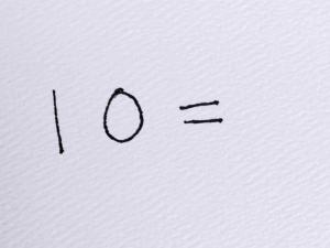 10 equals
